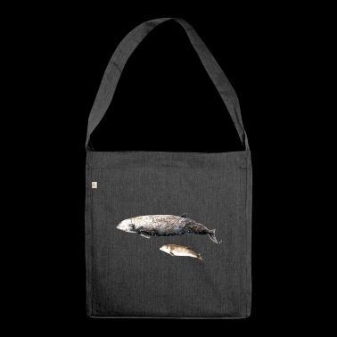 Cuvier's beaked whale - Ziphius cavirostris Beaked whale - Shoulder Bag made from recycled material
