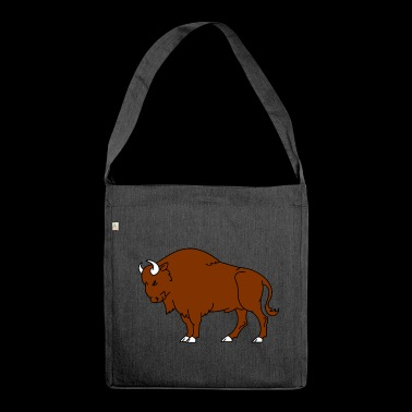 Bison - Schultertasche aus Recycling-Material