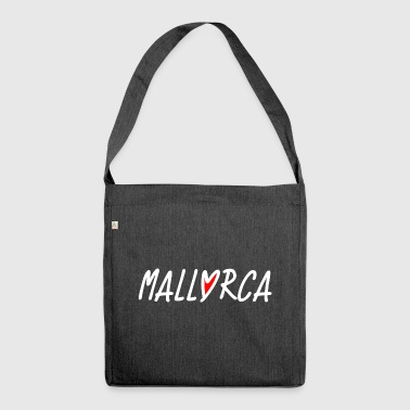 Mallorca Love Heart - Dream of Mallorca - Shoulder Bag made from recycled material
