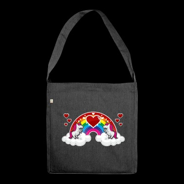 Rainbow and Unicorn - Shoulder Bag made from recycled material