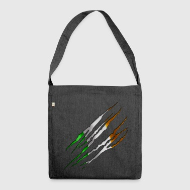 Ireland Slit open 001 AllroundDesigns - Shoulder Bag made from recycled material