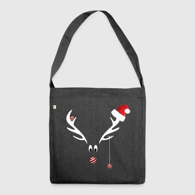 Christmas Reindeer - Shoulder Bag made from recycled material
