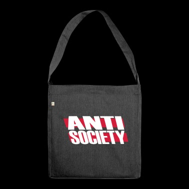 Anti Society - Schultertasche aus Recycling-Material