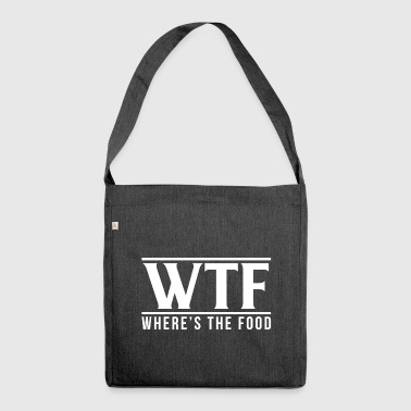 WTF - Where´s The Food - Schultertasche aus Recycling-Material