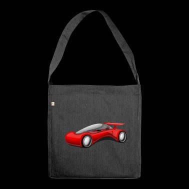 Futuristic sports car - Shoulder Bag made from recycled material