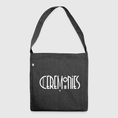 Ceremonies, Art Deco audiotape logo - Shoulder Bag made from recycled material
