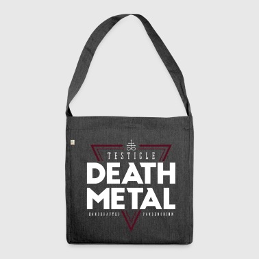 Testicle Death Metal - Shoulder Bag made from recycled material