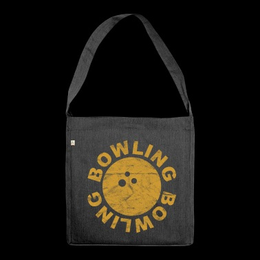 Bowling Bowling Ball Bowling - vintage - Shoulder Bag made from recycled material
