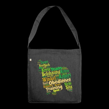 Berger des pyrénées Obedience Wordcloud - Schultertasche aus Recycling-Material
