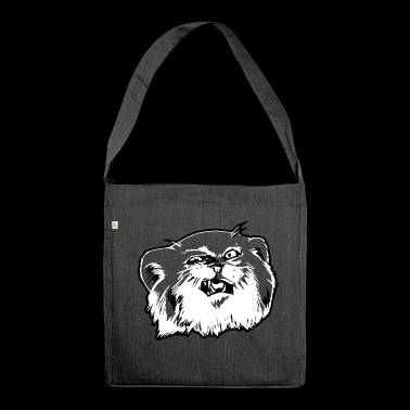 Pallaskatze Manul face - Shoulder Bag made from recycled material