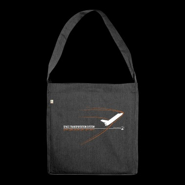 Space Shuttle (Orange print) - Shoulder Bag made from recycled material