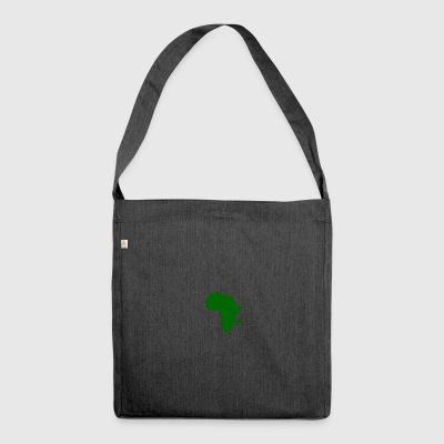 afro styles green - Schultertasche aus Recycling-Material
