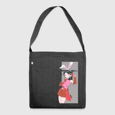 Bonny the bunny girl. - Shoulder Bag made from recycled material