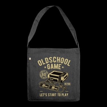 Oldschool Game Video Spiel - Schultertasche aus Recycling-Material