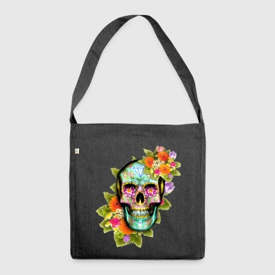 Real Sugar Skull - Shoulder Bag made from recycled material
