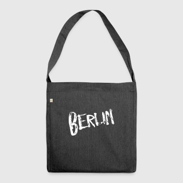 Berlin font - Shoulder Bag made from recycled material