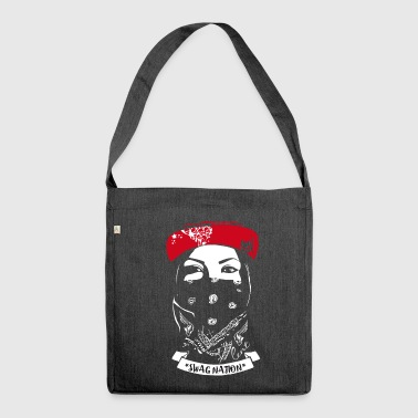 SWAG Nation cool Gangster Bandit Rapp street cat - Schultertasche aus Recycling-Material