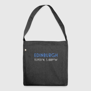 Edinburgh Scotland minimalist coordinates - Shoulder Bag made from recycled material