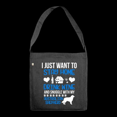 Snuggle with my Australian Shepherd - Shoulder Bag made from recycled material