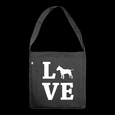 LOVE Bull Terrier Bull Terrier - Shoulder Bag made from recycled material