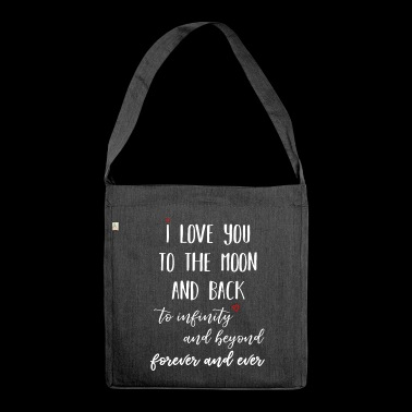 I love you to the moon - Shoulder Bag made from recycled material