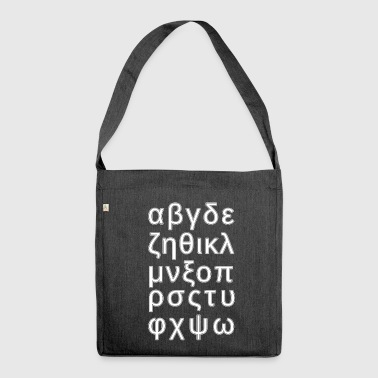 ALPHABET GREEK - Shoulder Bag made from recycled material