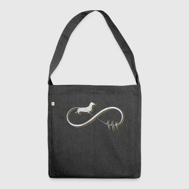 Dachshund design / gift - Shoulder Bag made from recycled material