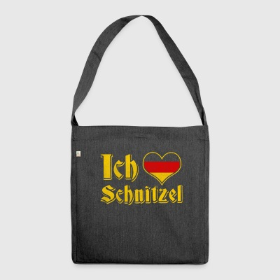 Ich liebe schnitzel Oktoberfest dirndl alternative - Shoulder Bag made from recycled material