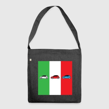 Car Italian Flag - Shoulder Bag made from recycled material