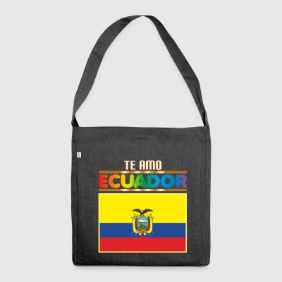 I LOVE YOU ECUADOR - Schultertasche aus Recycling-Material