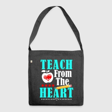 Teach From The Heart - Schoudertas van gerecycled materiaal
