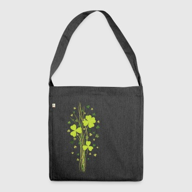 Shamrock. Lucky Clover - Shoulder Bag made from recycled material