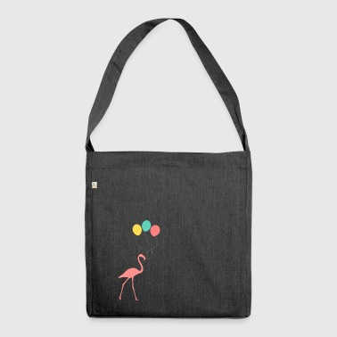 Flamingo con palloncini - Borsa in materiale riciclato