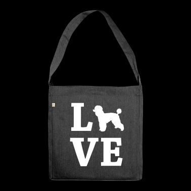 LOVE Poodle Poodles Poodle Poodle - Shoulder Bag made from recycled material