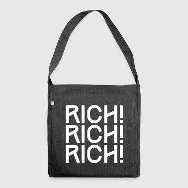 RICH, RICH, RICH - REICH, REICH, REICH - Schultertasche aus Recycling-Material
