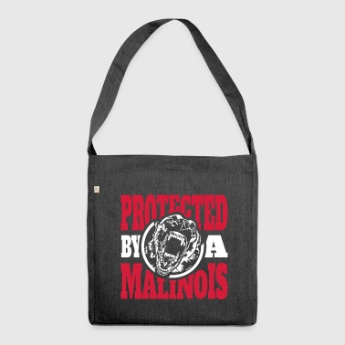 Protected by a MALINOIS - Belgian Malinois - Shoulder Bag made from recycled material