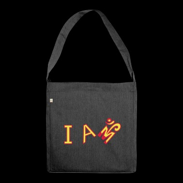 I am - Shoulder Bag made from recycled material