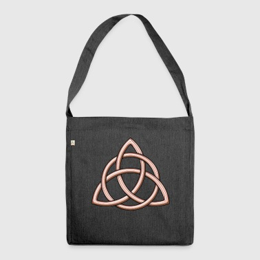 Celtic Trinity Knot Shiny Rose Gold - Schoudertas van gerecycled materiaal