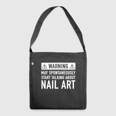 Funny Nail Art Gift Idea - Shoulder Bag made from recycled material