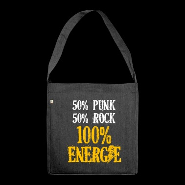 Punk e rock = 100% di energia - Borsa in materiale riciclato