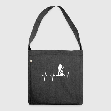 My heart beats for CLIMBING - Gift - Shoulder Bag made from recycled material