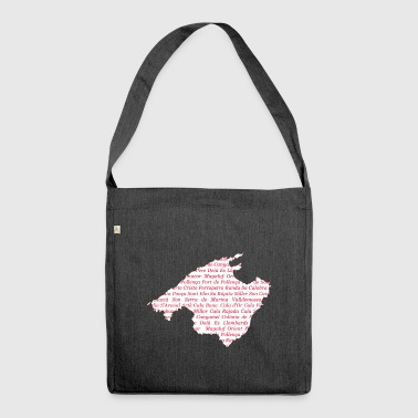 Mallorca map of where Pink - Shoulder Bag made from recycled material