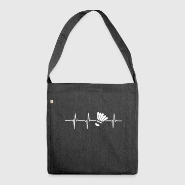 My heart beats for BADMINTON - Gift - Shoulder Bag made from recycled material