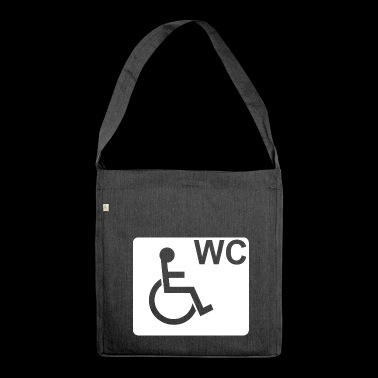 Wheelchair WC Fair Gift White - Shoulder Bag made from recycled material