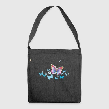 Butterflies moth insects spring summer - Shoulder Bag made from recycled material