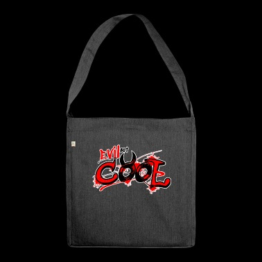 funny saying for men & women - Krampus GAG - Shoulder Bag made from recycled material