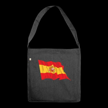 Spanish flag - Shoulder Bag made from recycled material