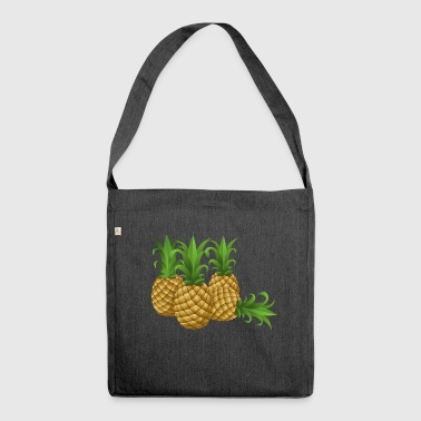 pineapples - Schultertasche aus Recycling-Material
