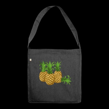Pineapples - pineapple - Shoulder Bag made from recycled material
