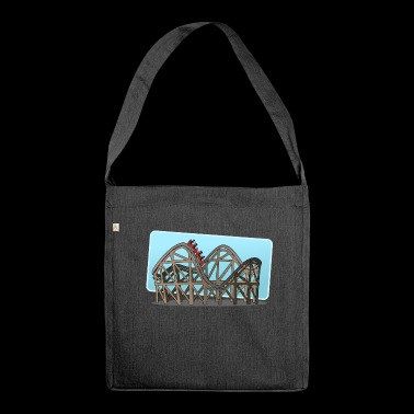 roller coaster - Shoulder Bag made from recycled material